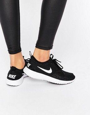 Nike Black & White Juvenate Trainers | Black nikes, Black nike .