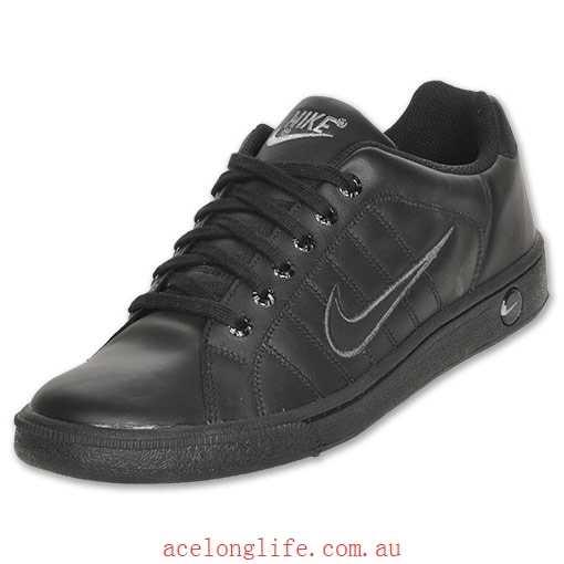 Black/Black New Nike Court Tradition II Men's Casual Shoe .