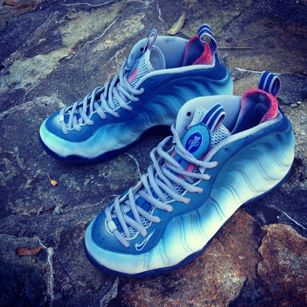 """Nike Air Foamposite One """"Great White"""" Custom 