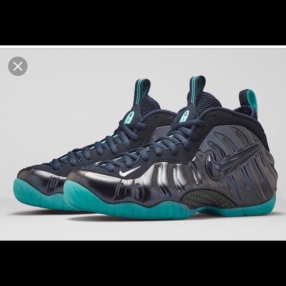 nike foamposite Shoes | Midnight Navy Or Aqua Foamposites | Poshma