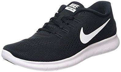 black and white nike running sho