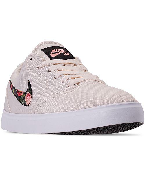 Nike Big Girls SB Check Canvas Vintage Floral Skateboarding .