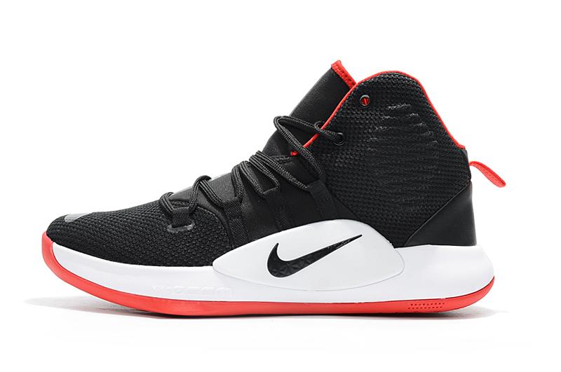 """Men's Nike Hyperdunk X """"Bred"""" Black/Varsity Red-White Basketball ."""