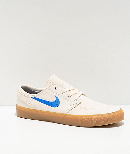 Nike SB Janoski Ivory & Gum Canvas Skate Shoes | Zumi