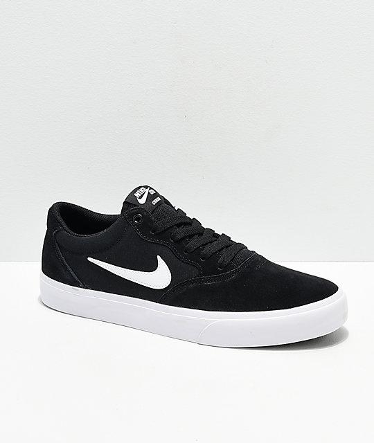 Nike SB Chron SLR Black & White Skate Shoes | Zumi