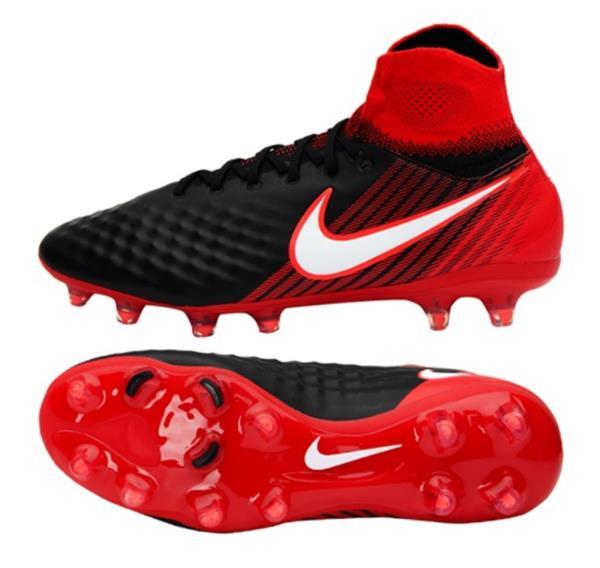 Nike Men Magista Orden II FG Cleats Soccer Red Black GYM Shoes .