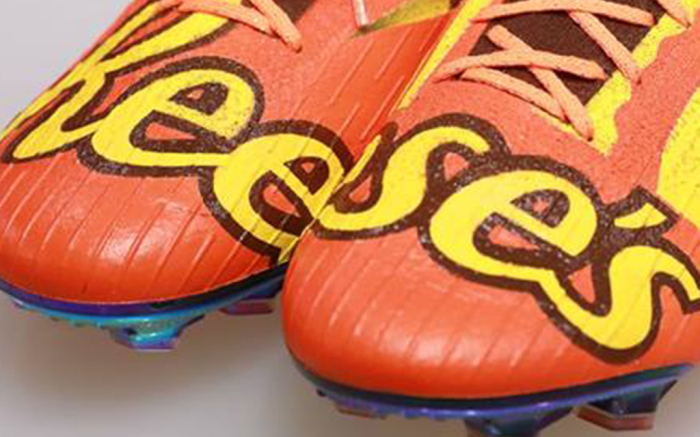 Hershey & Shoe Surgeon Create Reese's Cleats for a Soccer Star .