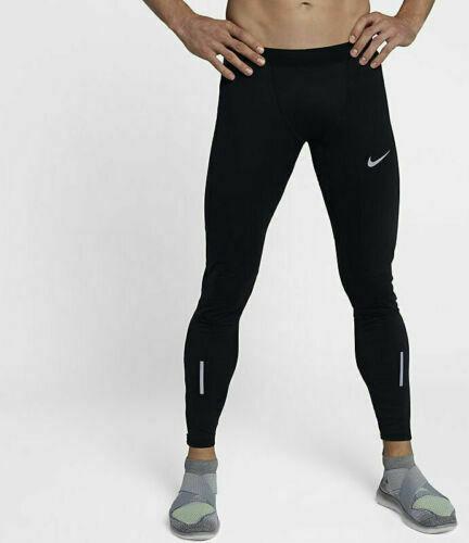 "new Nike Shield Tech 30"" Men's XXL Running Tights 859270-010 Black ."