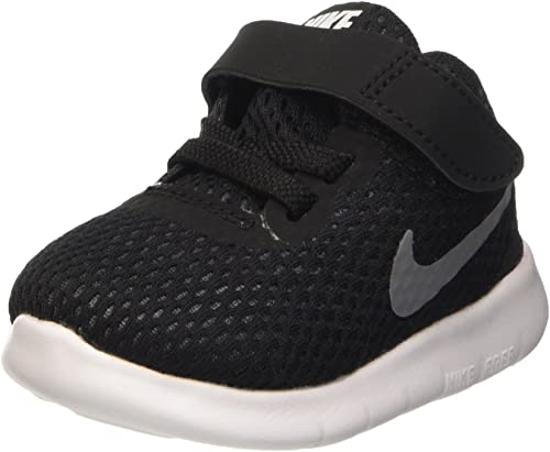 Amazon.com | Nike Free RN (TDV) Toddler Shoes Black/Metallic .