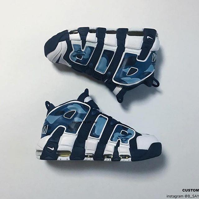 Bape inspired Nike Uptempo. #DailySole 📸: @8_s