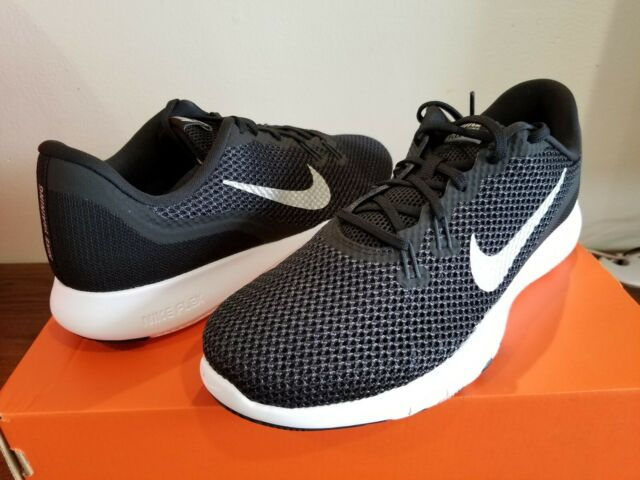 Nike Womens Flex Trainer 7 Shoes Wide Black Silver Anthracite .