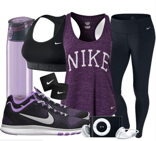 Nike Workout Outfit! Purple my fave | Athletic outfits, Nike .