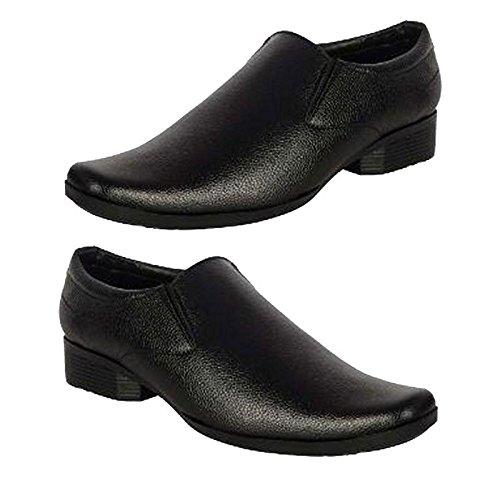 Generic Men Office Shoes Black Color Leather Running Shoe - 8: Buy .