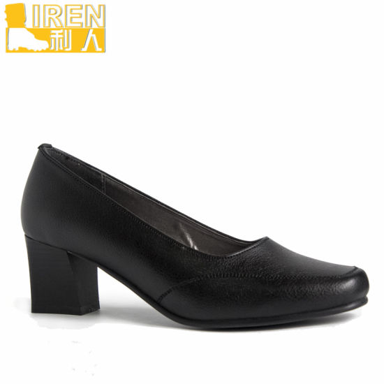 China Italy Style Good Quality Police Leather Women Office Shoes .