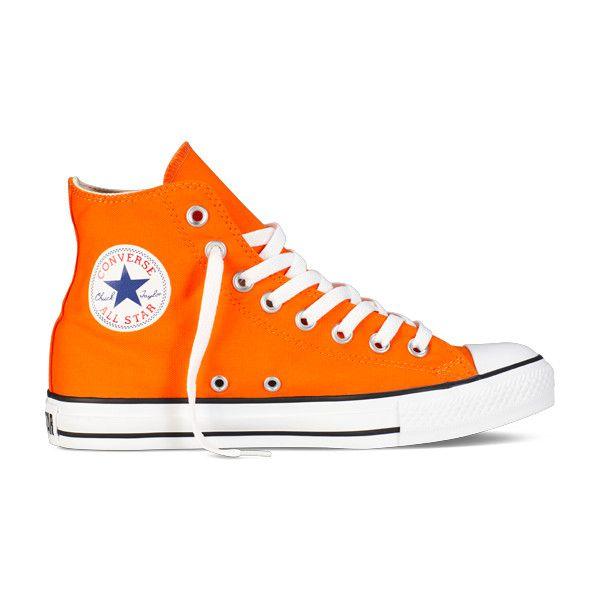 Orange Hi-Top Chuck Taylors All Star : Converse Shoes | Converse .