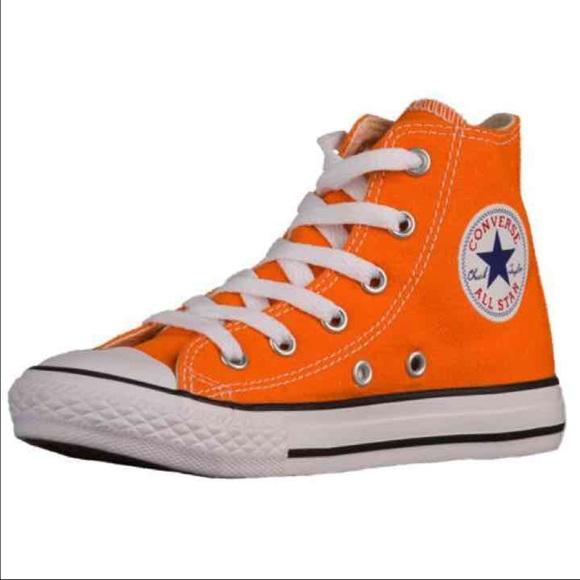 Converse Shoes | Authentic Orange All Star Chuck Taylor | Poshma