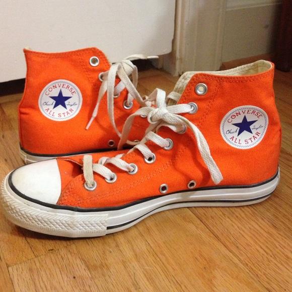 Converse Shoes | High Tops Orange | Poshma
