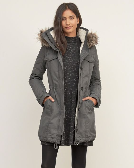 17 Ways to Style Your Parka Outfits | Oberbekleidung frauen .