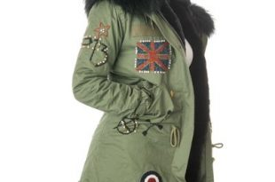 Stonetail   Women's Badged & Braided Fur Parka Co