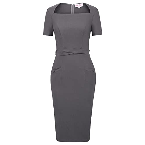 Grey Pencil Dress: Amazon.c