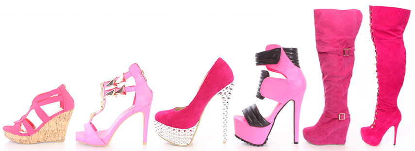 Pink Heels, Pink Shoes, Pink High Heels, Hot Pink Pumps for Wom