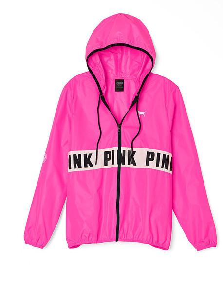 jacket, windbreaker, victoria's secret, pink by victorias secret .