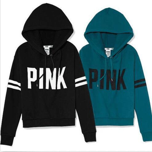 2020 Pink Hoodies Pink Jackets Love Pink Sweatshirts Women Letter .