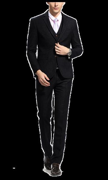 Custom Black Pinstripe Suit | Vulture Suits – VULTURESUI