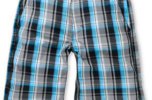 Free World Any Wear Blue & Black Plaid Shorts | Zumi