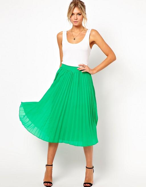 ASOS Pleated Midi Skirt | AS