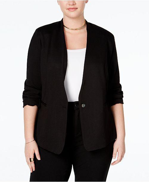 RACHEL Rachel Roy RACHEL Rachel Roy Trendy Plus Size Ponte Blazer .