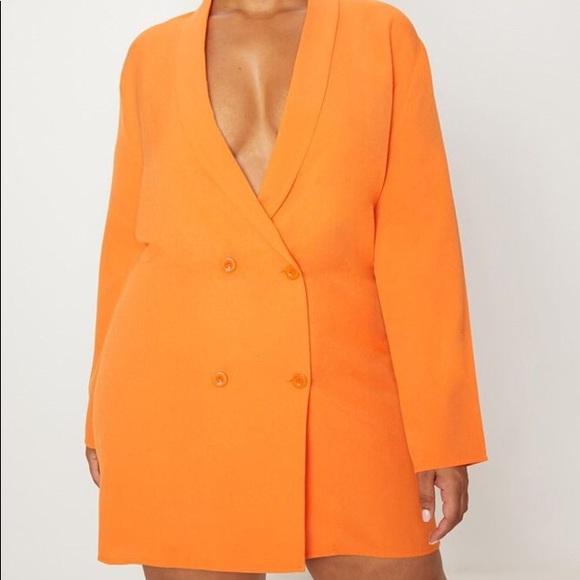 PrettyLittleThing Dresses | Plus Size Blazer Dress | Poshma