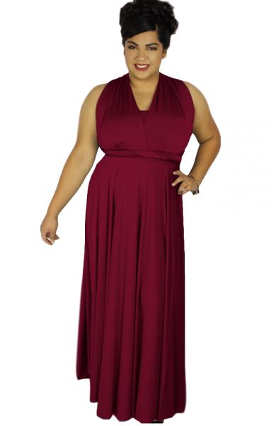 Plus Size Maxi Multiway Dress Plus size Convertible Bridesmaid dress