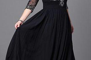 Formal Plus-Size Floor-Length V-Neck Dress | Plus size evening .
