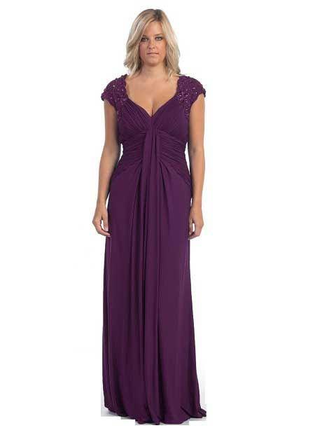 Eggplant plus size | Mother of the bride dresses long, Plus size .