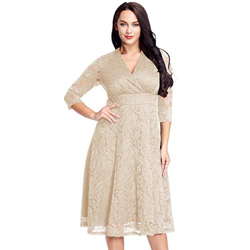 Plus Size 26W Mother of The Bride Dresses: Amazon.c
