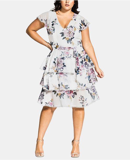 City Chic Trendy Plus Size Summer Love Dress & Reviews - Women .