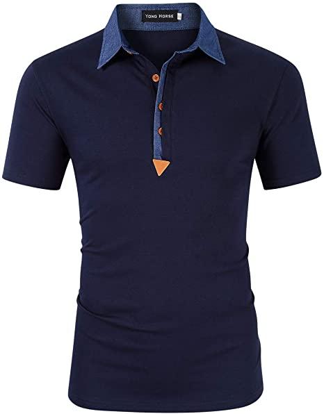 Yong Horse Men's Polo Shirts Casual Long/Short Sleeve T-Shirt .