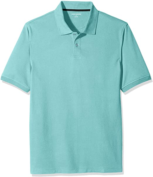 Amazon.com: Amazon Essentials Men's Regular-fit Cotton Pique Polo .