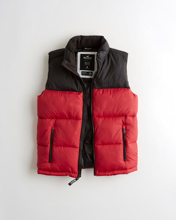 Guys Mockneck Puffer Vest | Guys Clearance | HollisterCo.c
