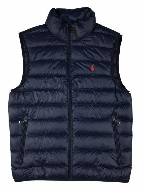 Men Polo Ralph Lauren DOWN FILLED Puffer Vest Jacket Packable Size .