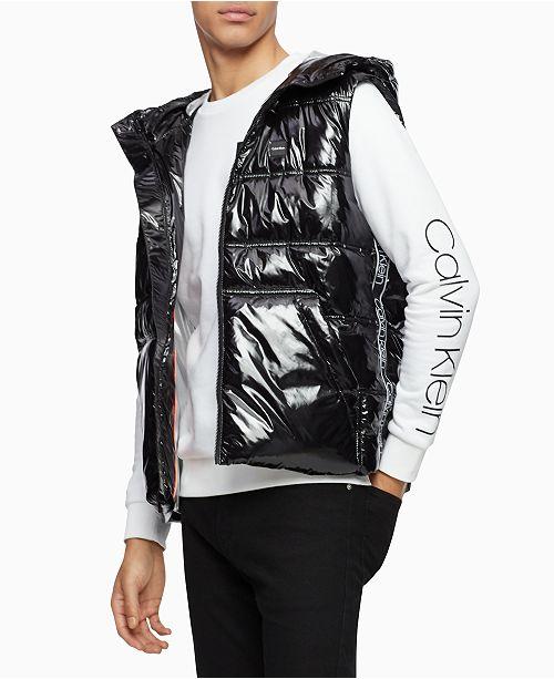 Calvin Klein Men's Hooded Puffer Vest & Reviews - Coats & Jackets .