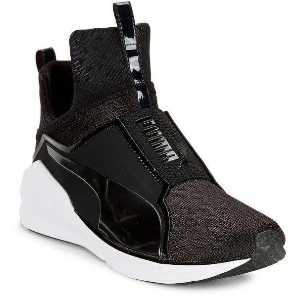Puma Fierce Mesh Hi-Top Sneakers ($100) ❤ liked on Polyvore .