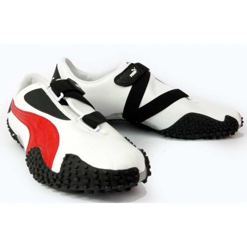 Puma Mostro White/Red | Leather trainers, Nike socks, Designer sho