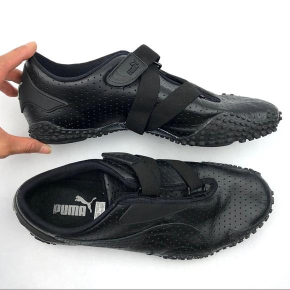 Puma Shoes | Mens Mostro Perforated Black Leather Shoe | Poshma