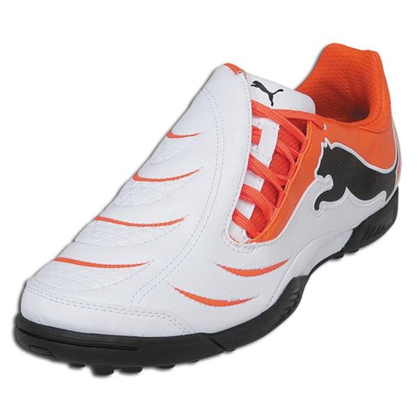 $40.99 - Puma PowerCat 3.10 Junior Turf Soccer Shoes (White/Orange .