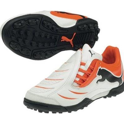 $53.99 - Puma PowerCat 3.10 Turf Soccer Shoes (White/Orange/Black .
