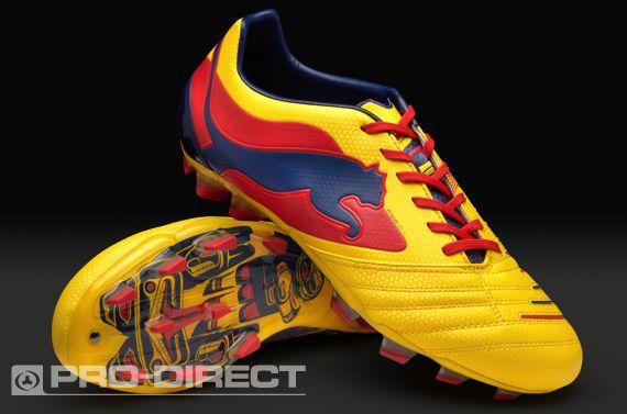 Puma Powercat 1 Graphic FG Boots - Yellow/Blue/Scarlet | Puma .