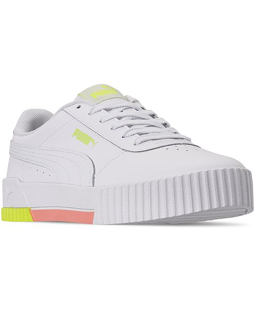 Puma Women's Carina Leather Casual Sneakers from Finish Line .