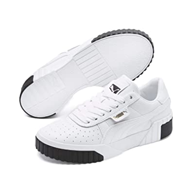 Amazon.com | PUMA Women's Shoes White Black Cali Sneaker Fall .